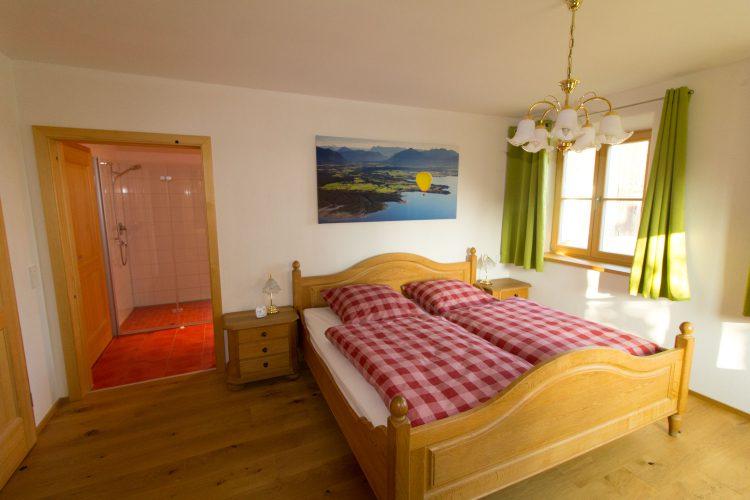 Das Schlafzimmer - Ferienwohnung Baumgarten 33